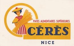 06 - BUVARD PUBLICITAIRE  PÂTES ALIMENTAIRES CERES à NICE - 031 - P