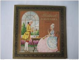 Ancien Carton Publicitaire Original (1955) J. BOLDOOT, AMSTERDAM - Parfum LAVENDEL - Placas De Cartón