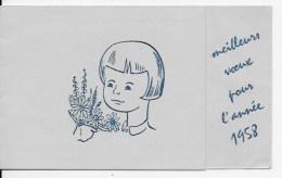 Calendrier De Poche 1958 - Petit Format : 1941-60