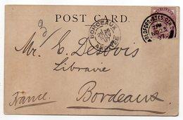Grande-Bretagne--1897--tp N°73 Seul Sur Carte Postale (William & Norgate,Covent Garden) Pour Bordeaux(France)-BEDFORD - 1840-1901 (Regina Victoria)