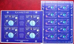 Kazakhstan  1998 Cosmonautics Day  2 M/Sheets  MNH - Kazakhstan