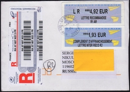 Registred  Circulated Letter  From France  To Russia 2017 - France