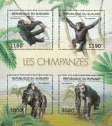 Burundi MNH Chimpanzees Sheetlet And SS - Chimpanzees