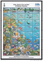 Palau 2016 Marine Life Reef Fishes Turtle Minisheet MNH - Fishes