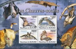 Burundi MNH Bats Set And SS
