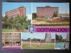 Czechoslovakia: GOTTWALDOV (Zlin) - Multiview - Stadio Stadion Estadio Stadium Football - Used Ca 1980s - Soccer