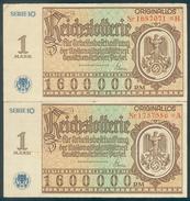 """Deutschland, Germany - """" REICHSLOTTERIE """", """" 2 X ORIGINALLOS Der NSDAP """" 1937 ! - [ 4] 1933-1945 : Troisième Reich"""