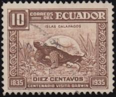 ECUADOR - Scott #342 Chelonoidis Nigra (*) / Used Stamp - Tortues