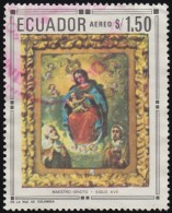 ECUADOR - Scott #768D Madonna & Child With The Hevenly Host / Used Stamp