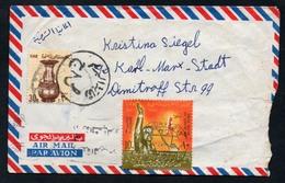 3172 - Alter Brief Beleg - Alexandria - Karl Marx Stadt - Luftpost Air Mail Gel 1967 - Egypt
