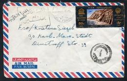 3178 - Alter Brief Beleg - Alexandria - Karl Marx Stadt - Luftpost Air Mail Gel 1966 - Egypt