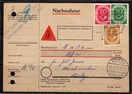 1953 Nachnahme Pf. 34 Posthorn Flensburg > Husby (bu185a) - Brieven En Documenten