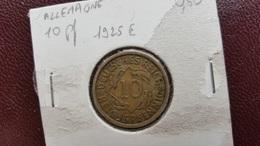 ALLEMAGNE : 10 Reichspfenning 1925 E