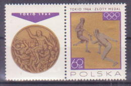 63-213 // POL - 1965    TOKYO  OLYMPIC MEDALS  For  POLAND   Mi 1626 ** - 1944-.... Republic