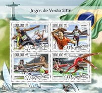 Mozambico 2016, Olympic Games In Rio, Athletic, Tennis Table, Gymnastic, 4val In BF - Gymnastik