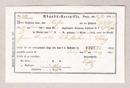 Liechtenstein VADUTZ Balkenstempel Auf K.K. Post Beleg 12.5.1855 - Liechtenstein