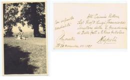 MORELLI ENZO ( BAGNOCAVALLO / RAVENNA ) CARTOLINA FOTOGRAFICA AUTOGRAFA - 1937 - Autographs