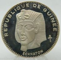 1970 REPUBLIQUE DE GUINEE 500 FRANCS GUINEENS ECHNATON SILVER GUINEA (8438) - Andere - Afrika
