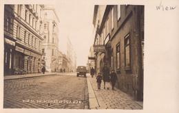 WIEN VII - NEUSTIFTGASSE : DELIKATESSEN / JULIUS FILIP FLEISCHHAUER / LIESINGER BIERE - CARTE VRAI PHOTO - RARE! (v-490) - Altri