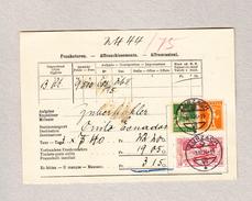 Schweiz Heimat AG ZURZACH 3.3.1924 Frankaturen Post Beleg Mit U.a. Zu#142 - Suisse