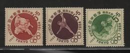 LOT 65 -  JAPON N° 713/715 *-  WATER POLO - GYMNASTIQUE - JUDO - Cote 5.25 €