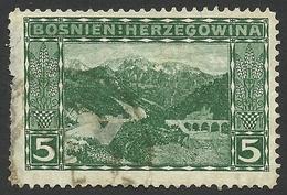 Bosnia And Herzegovina, 5 H. 1906, Sc # 33, Used. - Bosnia And Herzegovina