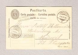 Schweiz Heimat SG Postwageneinwurf Obertoggenburg Balkenstempel  Ebnat-Kappel 4.6.1907 Ganzsache Nach Märwil - Suisse