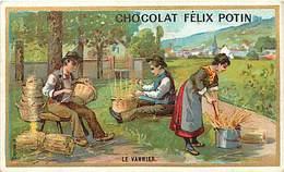 P277-chromo Chocolat Felix Potin -10,5cms X 6,5cms -metiers -metier -vannerie - Le Vannier -chromo Bon Etat - - Félix Potin