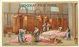 P275-chromo Chocolat Felix Potin -10,5cms X 6,5cms -metiers -metier -parfum -parfumerie -distillerie De Fleurs - - Félix Potin