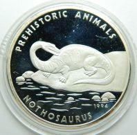 CAMBOIA 20 RIELS  SILVER PROOF COIN 1994 - KM#96 PREHISTORIC ANIMALS - Cambogia