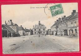 36-Vatan-Place Des Marchés-cpa écrite 1914 - Francia
