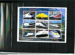 TRAINS (LOCOMOTIVES) - BLOC NEUF SOMALIA - Treni