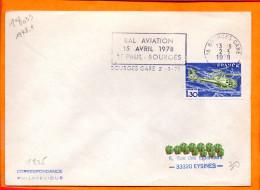 CHER, Bourges, Flamme à Texte, Bal Aviation 15 Avril 1978 St Paul (timbre Hélicoptère Gazelle) - Oblitérations Mécaniques (flammes)