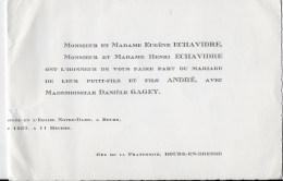 Faire Part Mariage 1957 - Mariage