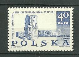 POLAND MNH ** 1610 MARTYROLOGIE ET LUTTE. MONUMENT à STUTTHOF - 1944-.... Republik