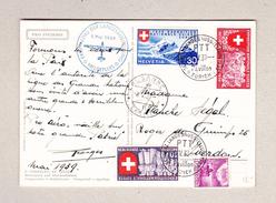 Schweiz 6.5.1939 Landesausstellung Meldeflug Auf Pro Infirmis Karte - Suisse