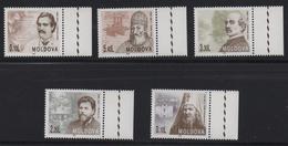 LOT 23 -  MOLDAVIE N°  178/182 **-  PERSONNAGES CELEBRES - Cote 10.50 € - Other