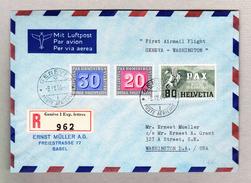 Schweiz 8.4.1940 Genève Poste Aérienne Luftpost R-Brief Nach Wahington Mit U. A. Pax #269 - Schweiz