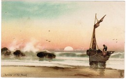 "Sunrise On The Beach, Raphael Tuck And Sons ""connoisseur""series N° 521 (pk32477) - Pêche"
