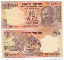 INDIA      10 Rupees      P-102      2016       UNC  [ Sign. Rajan - Letter U ] - India