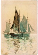 Old Postcard, Sailing / Fisging Boats, By Sepping Wright (pk32478) - Pêche