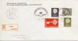 Veldpost - 55 Jaar K. Luchtmacht (1968) - Met Adres En NAPO Aantekenstrookje / Open Klep - Period 1949-1980 (Juliana)
