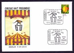 GERMANY 2015. SPECIAL POSTMARK. CIRCUS CIRQUE CIRCO. TIGER - Circus