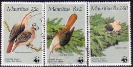 MAURITIUS 1985 SG #708-10 Part Set Missing 5r Used Pink Pigeon - Mauritius (1968-...)