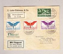 Schweiz Luftpost Zürich 10.8.1925 R-Brief Nach Genf - Poste Aérienne