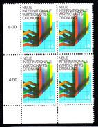 United Nations Vienna MNH 1980 Scott #7 4s New Economic Order Lower Left Corner Block - Centre International De Vienne