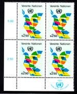 United Nations Vienna MNH 1980 Scott #8 2.50s Dove Lower Left Corner Block - Centre International De Vienne