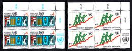 United Nations Vienna MNH 1980 Scott #15-#16 Set Of 2 ECOSOC Upper Right Corner Blocks - Centre International De Vienne