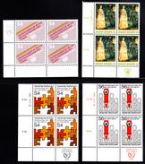 United Nations Vienna MNH 1981 Scott #17-#23 Complete Year In Corner Blocks - Centre International De Vienne