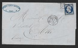 PARIS - Losange J Sur N° 14  Et  Cachet   ( J ) 3 PARIS  ( J ) - 1849-1876: Période Classique